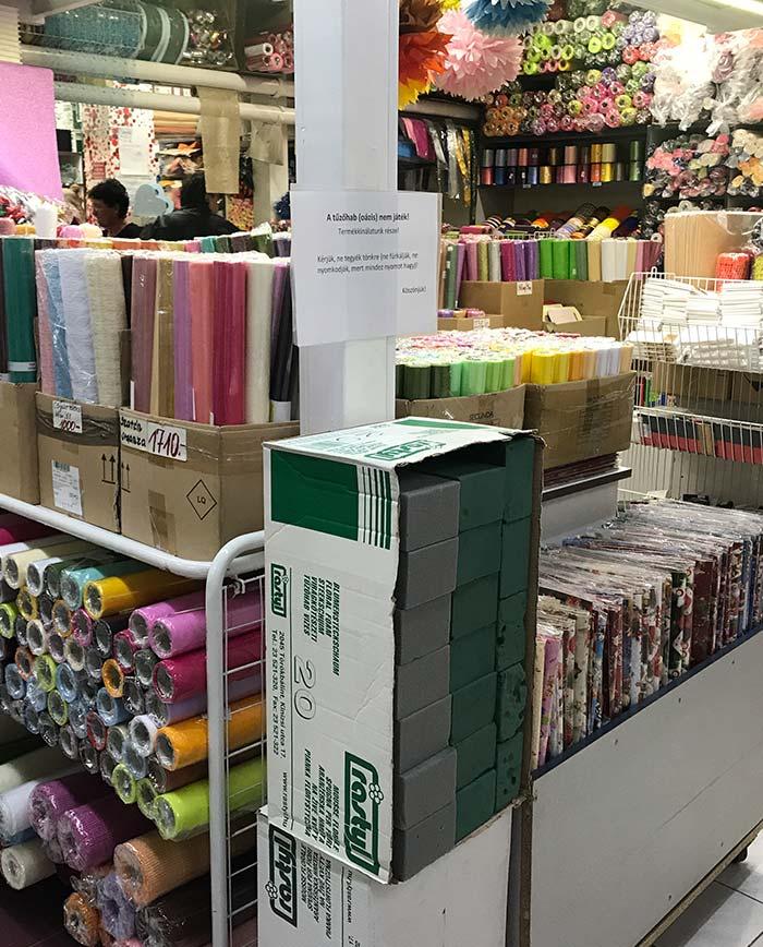 Vágható dekorterítős bolt